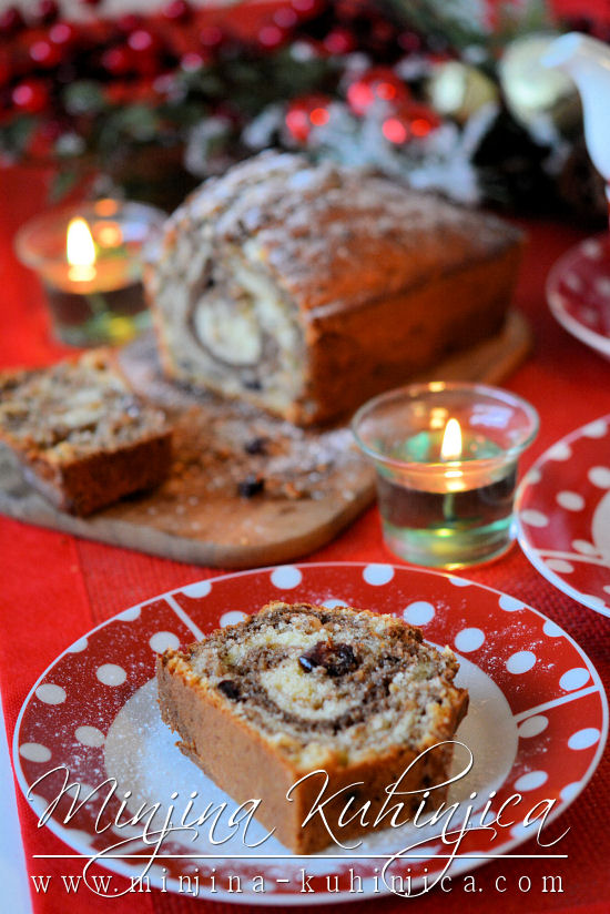 Božićni slatki hleb