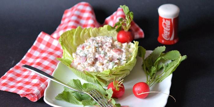 Posna kikiriki salata