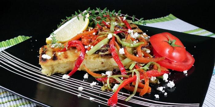 Grilovana palenta sa povrćem