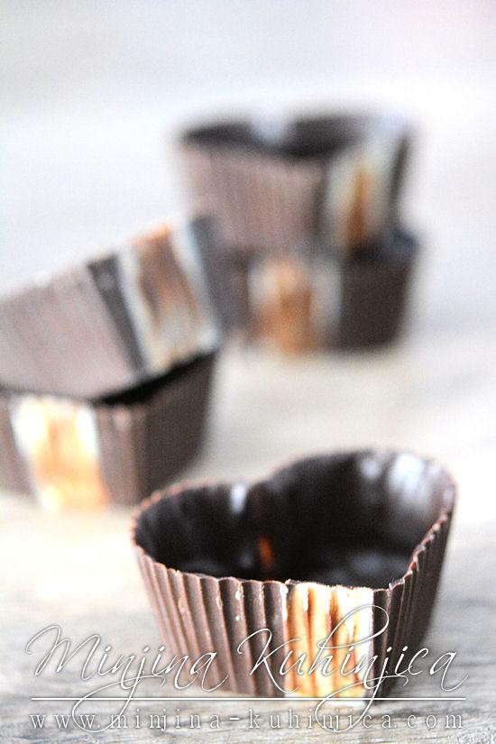 Čokoladne korpice sa dva fila