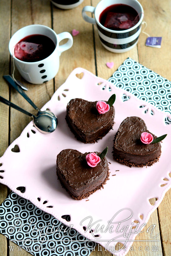Zaljubljeno čokoladno srce