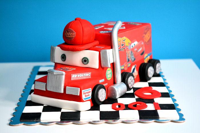 Mack the Truck Birthday Cake Tutorial