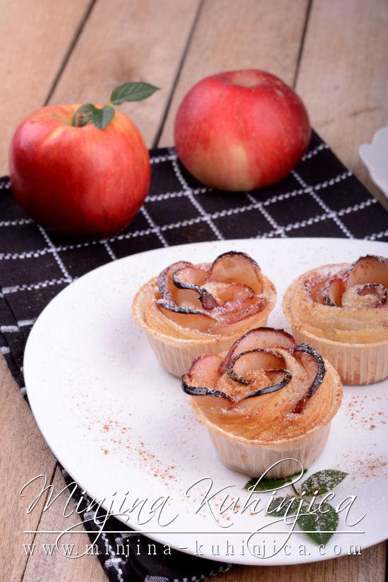 Lisnate ruže od jabuka