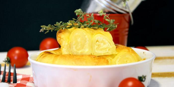 Zapečene rol palačinke sa sirom