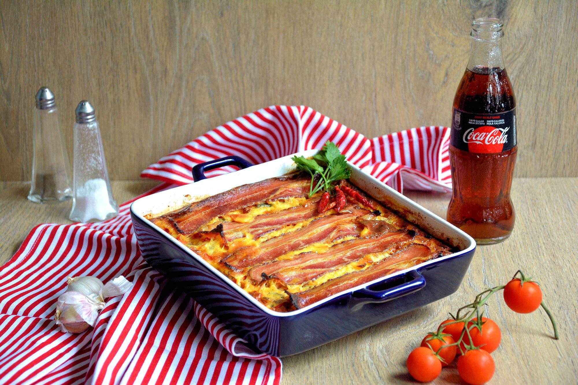 Zapečeno povrće sa slaninom (video)