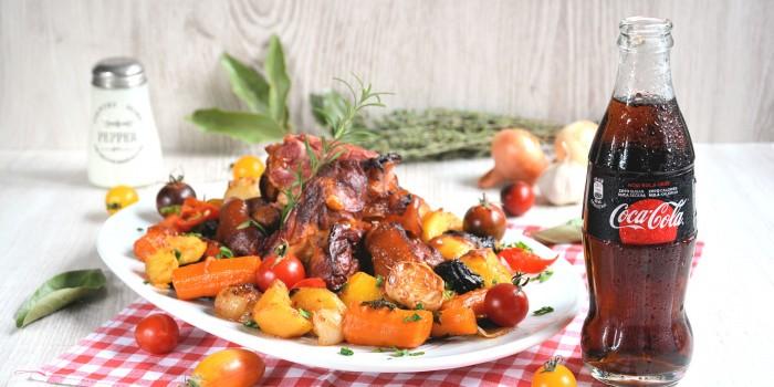 Dimljena svinska butkica sa povrćem