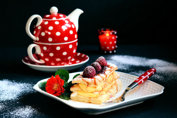 Napoleon kolač sa malinama