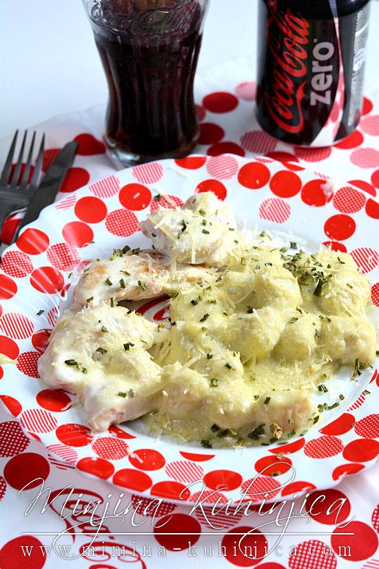 Piletina sa njokama i sosom od 4 vrste sira