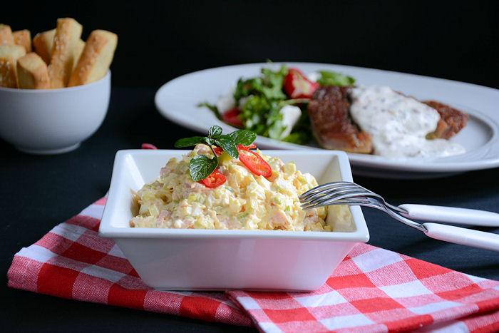 Salata od praziluka i šunke