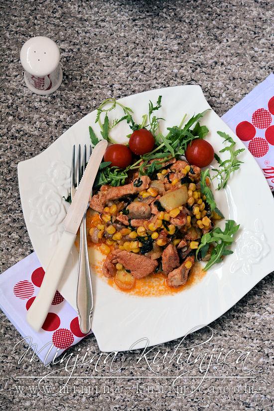 Svinjski file sa povrcem