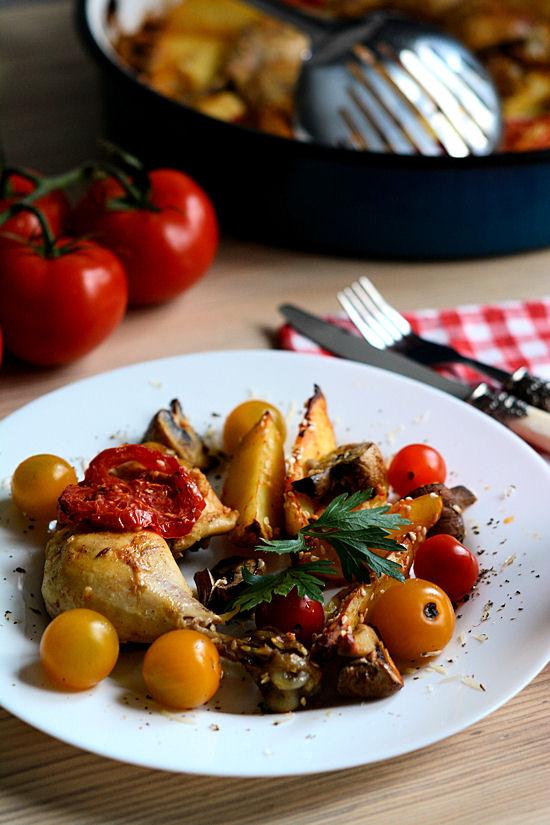 Piletina iz rerne sa povrćem