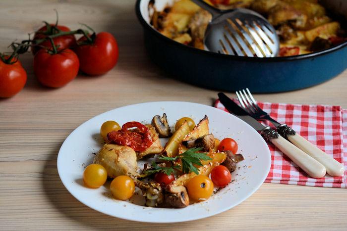 Piletina iz rerne sa povrcem