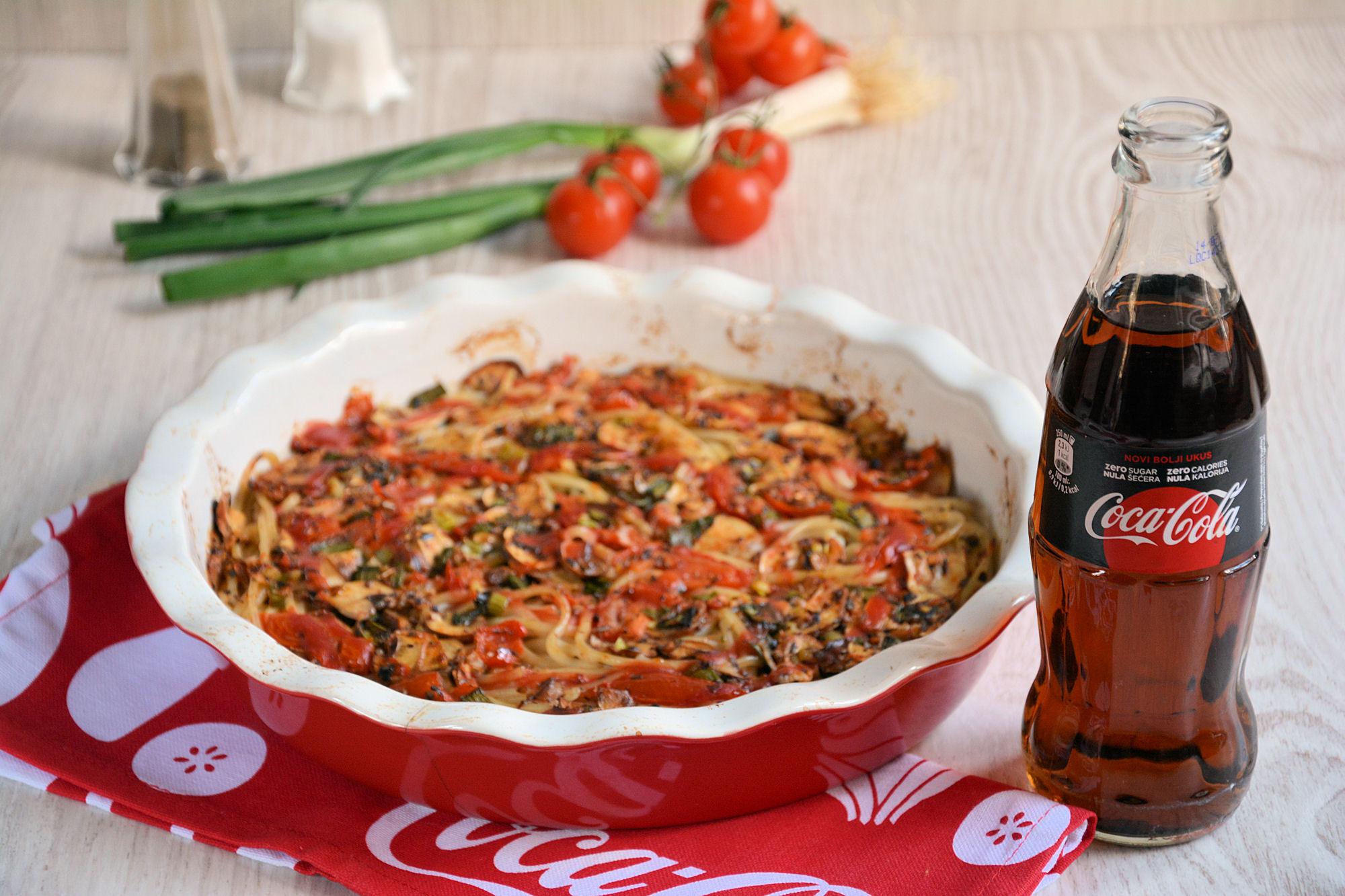 Posna «pizza» od špageta