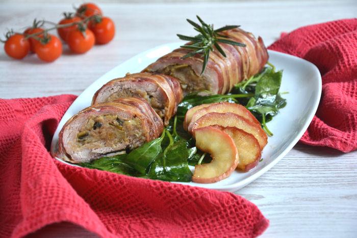 Punjeni svinjski file sa slaninom