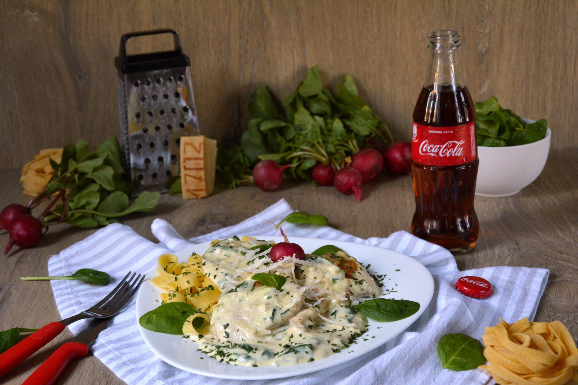 Piletina u kremastom sosu sa spanaćem i parmezanom (video)