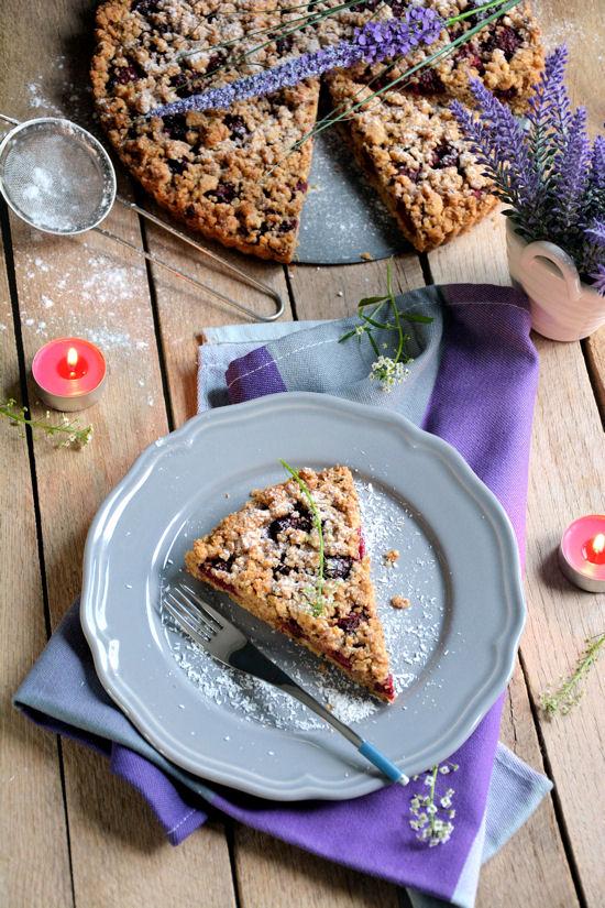 Prhki kolač sa malinama